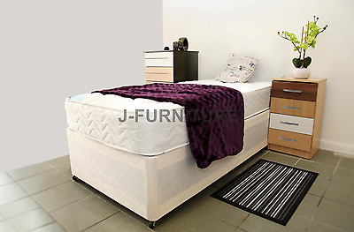 Ikea tromso white bunk bed with mattress picclick uk for Cheap single divan beds