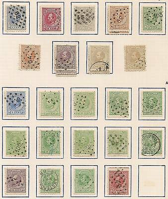 Netherlands 1872 NVPH selection 19J-27J and faults CANC