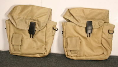 2 Military Army Type 2 QUART DESERT TAN CANTEEN COVER 2qt w/ STRAP and CLIPS NEW