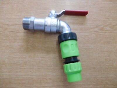 3/4 inch BSP Metal Water Oil Fuel Hoselock Tap fitting
