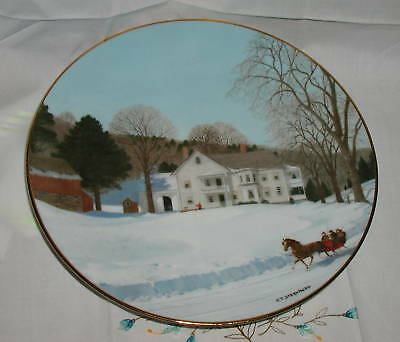AN OLD TIME COUNTRY WINTER (CHITTENDON'S PLACE) PLATE