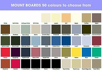 A1 Mount Boards (50 colours to choose) 10 in a Pack.