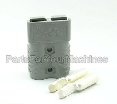 "CONNECTOR w/CONTACTS #4AWG (4 GAUGE), SB175A 600V, ANDERSON, BIG GRAY 3""x2""x1"""