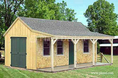 12 X 20 Building Cottage Shed With Porch Plans Material