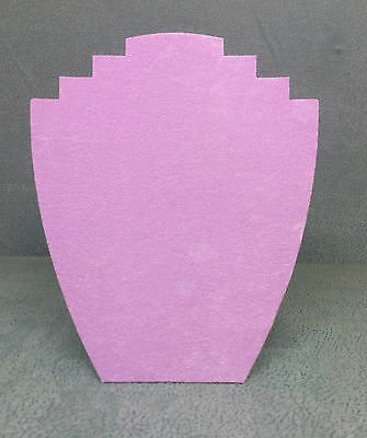 Set of 10 Jewellery Display Card Busts [B] Lilac Suede
