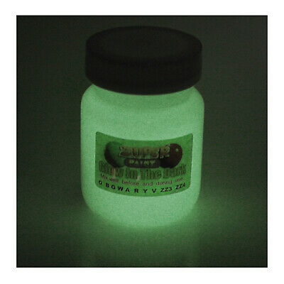 Glow in the dark White colour Craft Zuper Paint  30ml