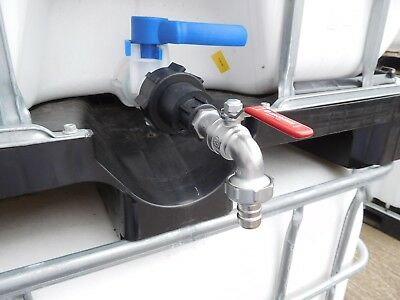 IBC Metal Tap and Cap Fitting - 60 mm IBC Adaptor to Metal tap and Hose Tail