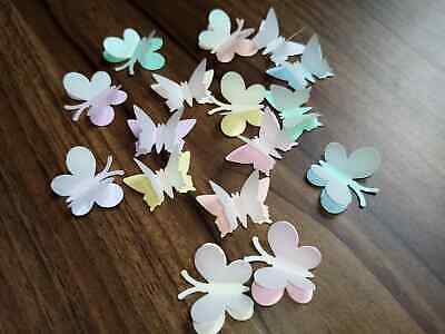 75 2TONE SMALL LARGE BUTTERFLY WEDDING TABLE CONFETTI 25 3d /& 50 SINGLES topper