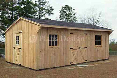 12' x 18' Garden Structures Saltbox Shed Plans, Material List Included  #71218