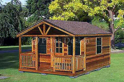 Outdoor Structure Building / Cabin Shed Plans, Material List Includes  #62016