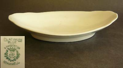 ART DECO PLATINUM BLUE LAMBERTON SCAMMELL  BOWL tray