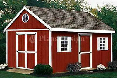 Shed Plans for 16 x 10 Traditional Gable Backyard Shed Blueprints  #21610