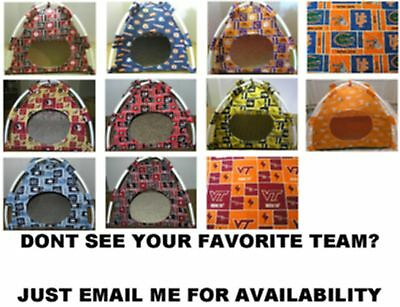 PET BEDS PUP Tent 4 Cats Or Dogs College Football Teams