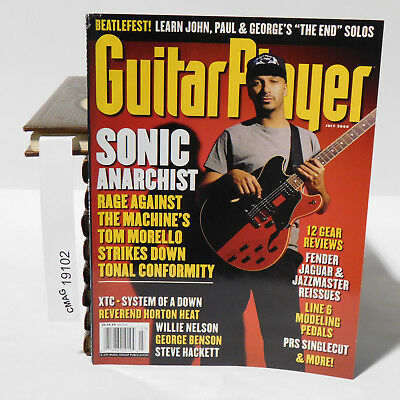 GUITAR PLAYER MAGAZINE TOM MORELLO RAGE AGAINST THE MACHINE SYSTEM OF A DOWN '00