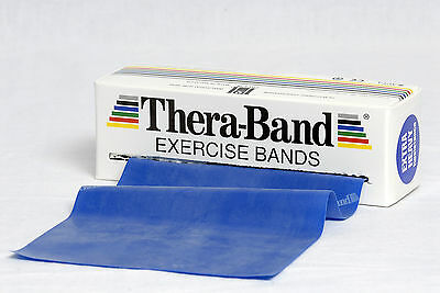 TheraBand Übungsband 2 m extra stark blau Original Thera Band Expander Gymnastik