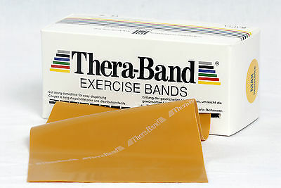 TheraBand  2 m max Stark Gold Original Übungsband Thera Band Expander Gymnastik