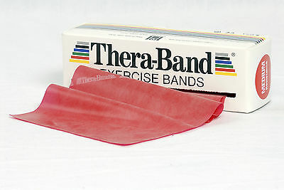 TheraBand Übungsband 2,5 m mittel rot Original Thera Band