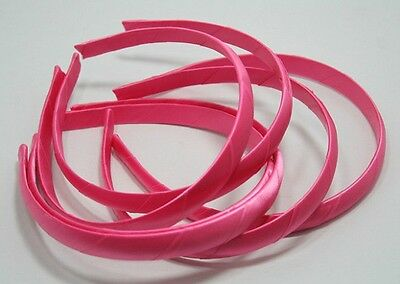 12 Wholesale Lot 15Mm Headbands Hair Accessory Plastic Hair Band Covered Satin