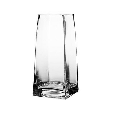 75 Inch Tall Taper Down Square Vase Open With 275 X 275 6pcs