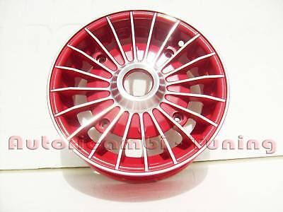 "4 CERCHI IN LEGA DA 12"" FIAT 500 ROSSI DIAMANTATI 190mm GRIFO"