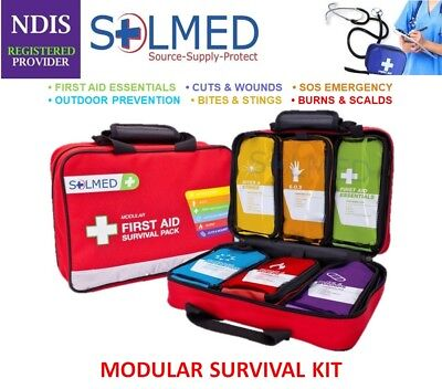 Premium First Aid Kit 303 Pieces Easy Find Assorted Modular Packs Soft Case