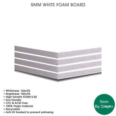 Foam Board 5mm Black 614mm x 440mm//A2-1cm Border For Mounting 5 Sheets