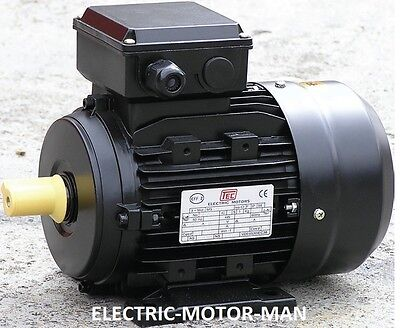 Electric Motor, Single Phase, 1.1Kw, 1.5HP, 4 pole - 1400 rpm.