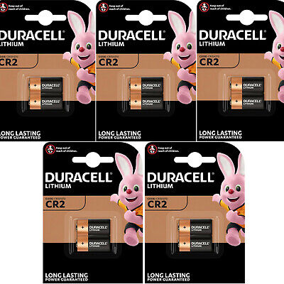 10  DURACELL 3V LITHIUM CR2 Ultra Photo Batteries DLCR2