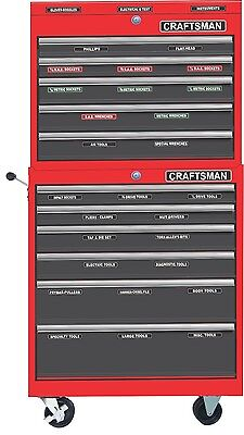 TOOLBOX LABELS fits all Craftsman Tool Boxes Tool Chest Storage Cabinets Drawers