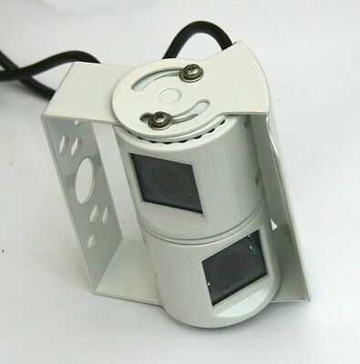Double CCD Twin Colour Rear View cameras in WHITE casing
