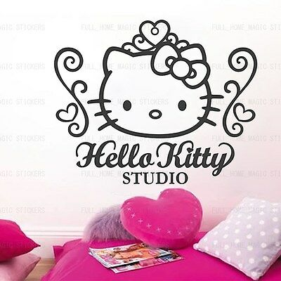 HELLO KITTY Wall Sticker Vinyl Art Decal Girls Room