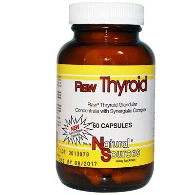 Raw Thyroid + Adrenal Gland Extract & American Ginseng - 390mgx60caps