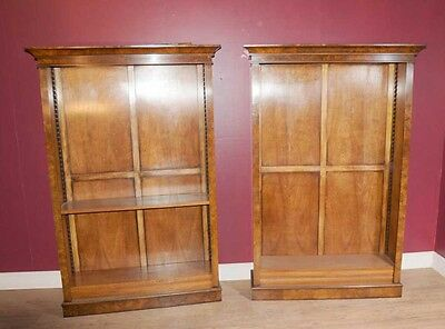 Pair Walnut Regency Bookcases Bookcase Furniture