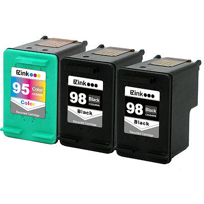3PK HP 98 95 Ink Cartridges HP98 HP95 C8764W C8766W For Deskjet 5940 H470 150