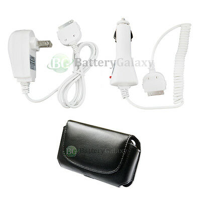 Home AC+Car Charger+Case Phone for Apple iPhone 4 4G 4S