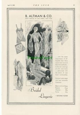 1930 B. Altman & Co. New York Bridal Lingerie Ad