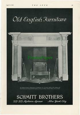1930 Schmitt Brothers Old English Furniture New York Ad