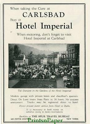 1930 CarslBad Hotel Imperial Travel Ad