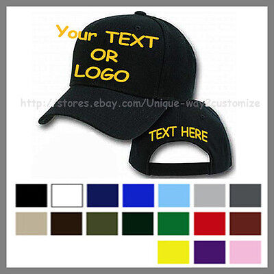 Embroidery Custom Personalize Cap hat stitched own logo