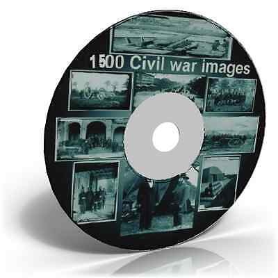 1500 American Civil War photos on CD, Historic photo picture CD collection