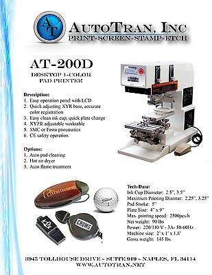 New Fully Supported 1 Color Pad Printer (Autotran)