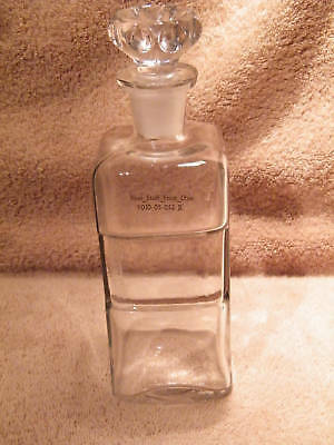 FAY & SCHUELER LG APOTHECARY BOTTLE W/STOPPER - c1895