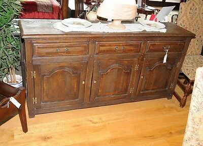3 Drawer Country Oak Farmhouse Dresser Sideboard