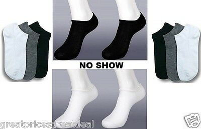6 12 Pairs Anklet Spandex NO SHOW SOCKS Lot Mens Womens SOLID COLORS #70033D
