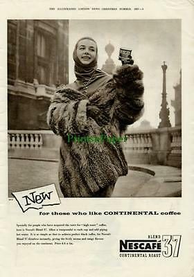 1957 Nescafe Continental Roast Blend 37 Coffee Ad