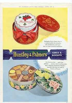 1957 Huntley & Palmers Cakes and Biscuits Kitchen ArtAd