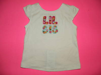 """GYMBOREE FLORAL REEF WHITE  """"Lil Sis"""" S/S TEE 12 18 NWT"""