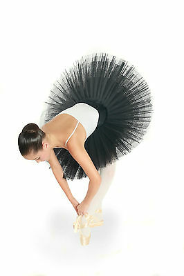 Professional Classical Black Platter Adult Tutu Ballet Competition Stage Costume