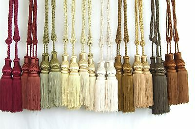 A Pair of elegant polyester Double Tassel in 10 colors