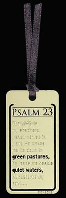 11 Brass Plated Sm Metal Bookmarks    Psalm 23